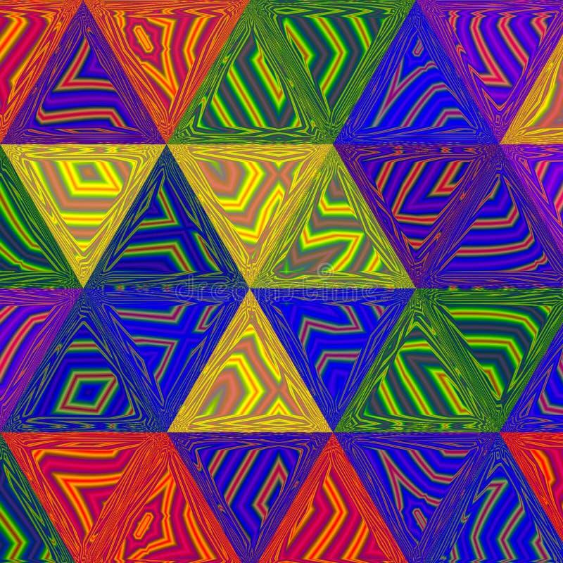 Zigzag au néon vibrant coloré de triangle illustration libre de droits