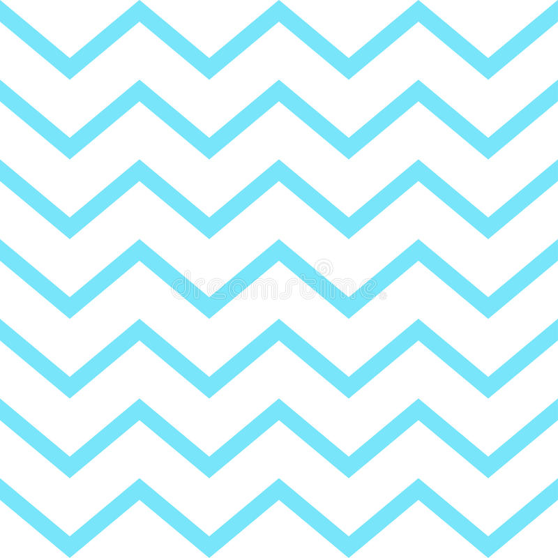 Zigzag. Blue stripes geometric seamless pattern. Wavy lines. Trendy design. Stylish futuristic background. Fabric Print, Textile, Texture, Chevron stripes, blue vector illustration