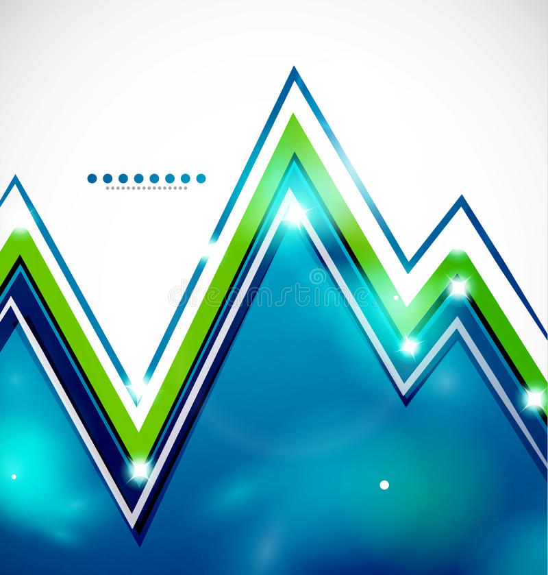 Download Zigzag Bright Background With Lights Royalty Free Stock Photos - Image: 27800388