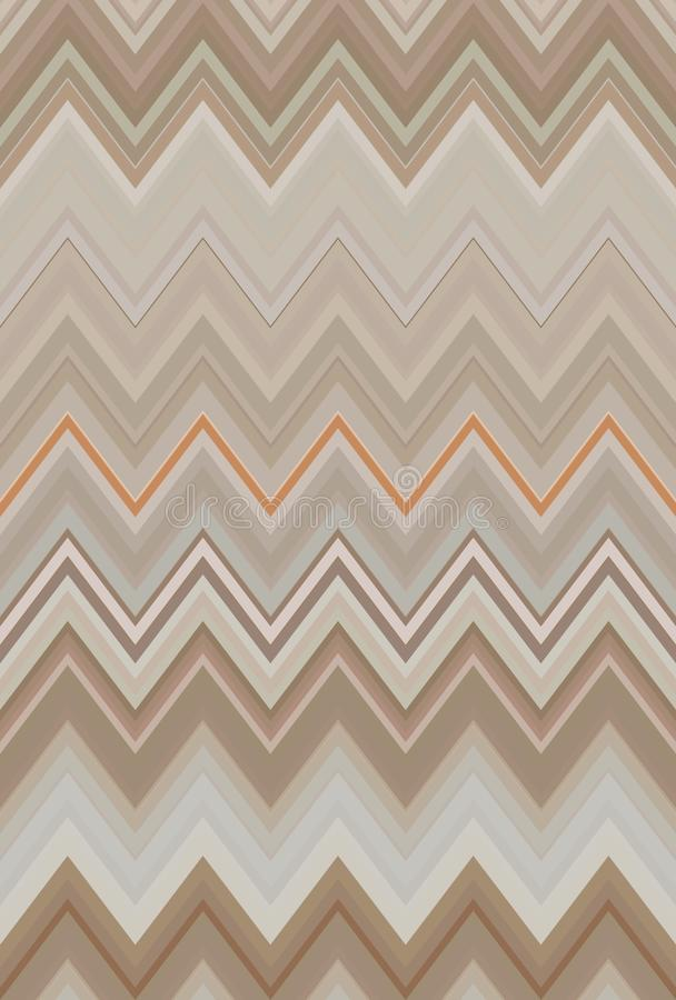 Zigzag de chevron de bronze de caf? de Brown Art illustration stock