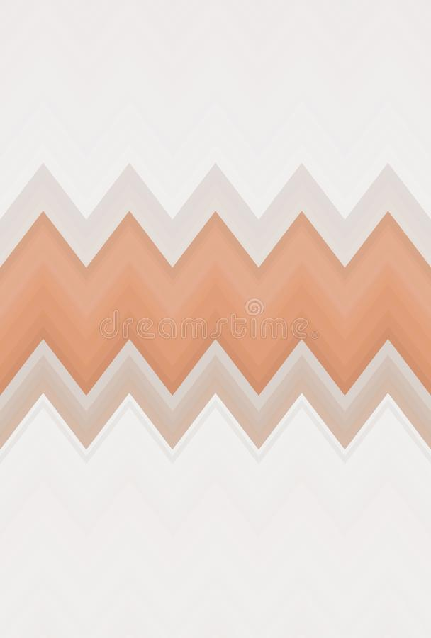 Zigzag de chevron de bronze de caf? de Brown d?coration sans couture illustration stock