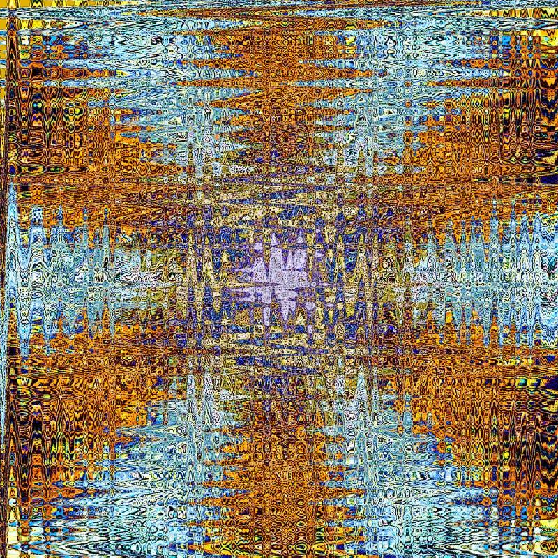 Zigzag de cristal escarchado de la mandala de la estrella de oro stock de ilustración