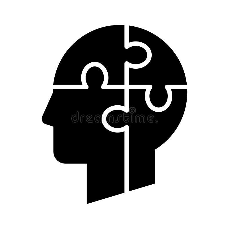 Zigzag de puzzle d'esprit illustration stock
