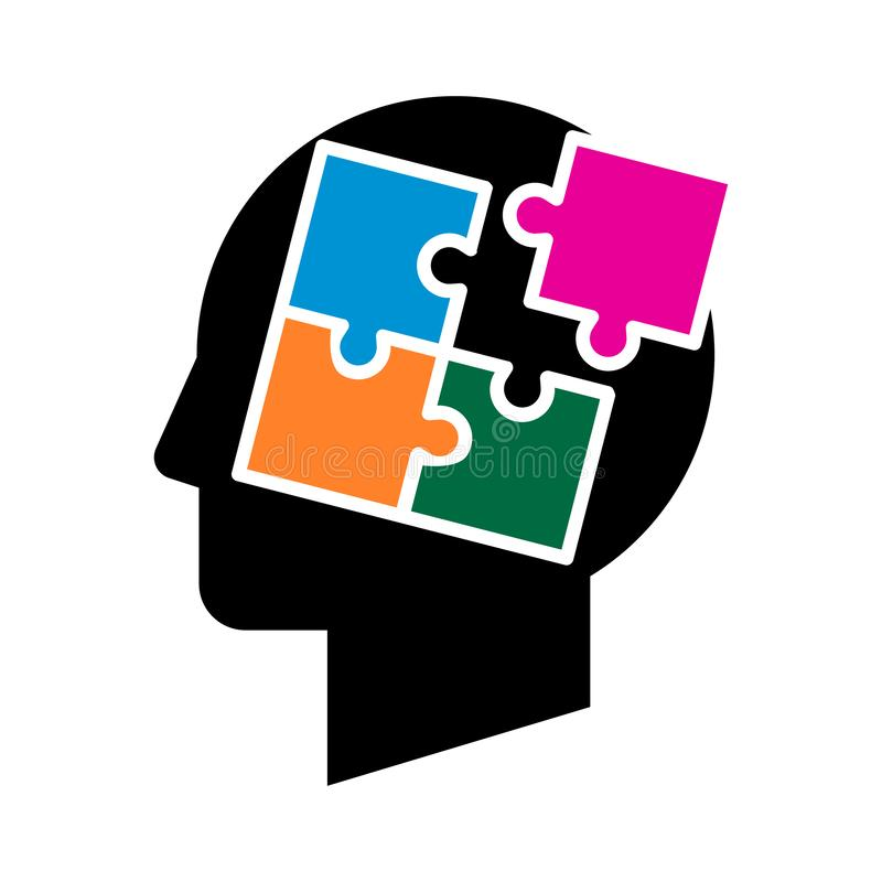 Zigzag de puzzle d'esprit illustration libre de droits