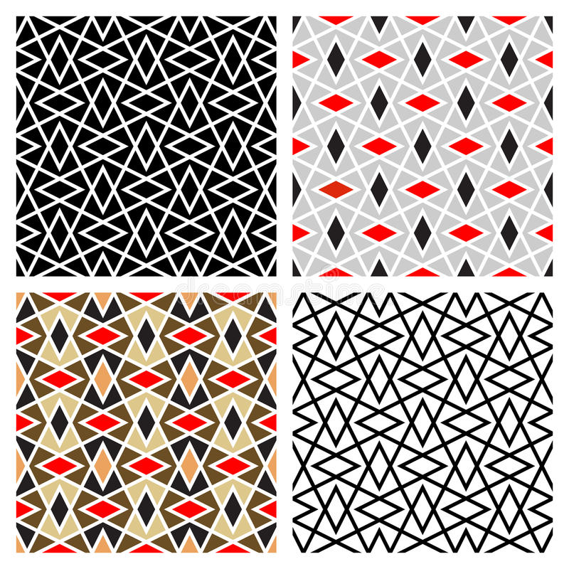 Zigzag Diamond Patterns stock photography