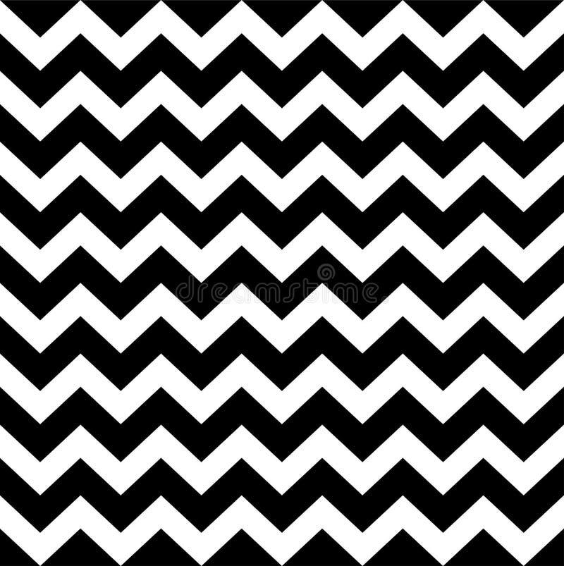 Zigzag eenvoudig patroon stock illustratie