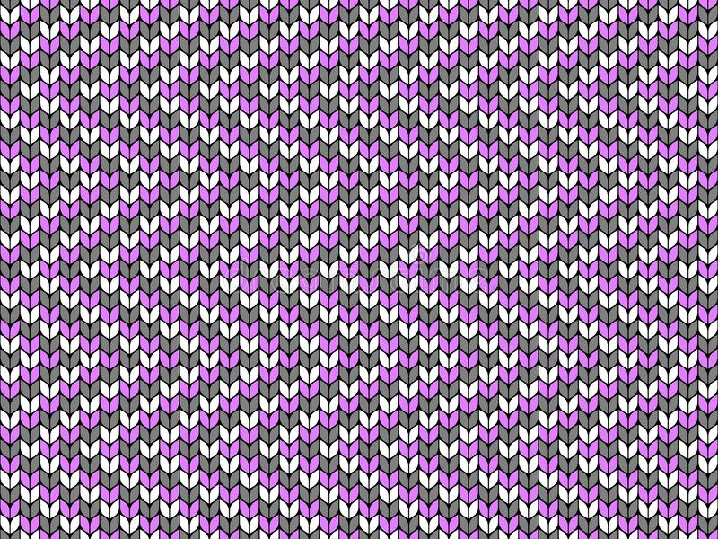 Zigzag, geometric backdrop. Seamless decorative background. Jacquard weave. Knitted pattern. vector illustration