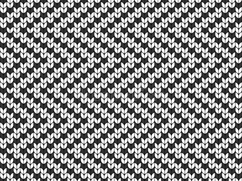 Zigzag, geometrische achtergrond Naadloze decoratieve achtergrond Jacquardweefsel Gebreid patroon royalty-vrije illustratie