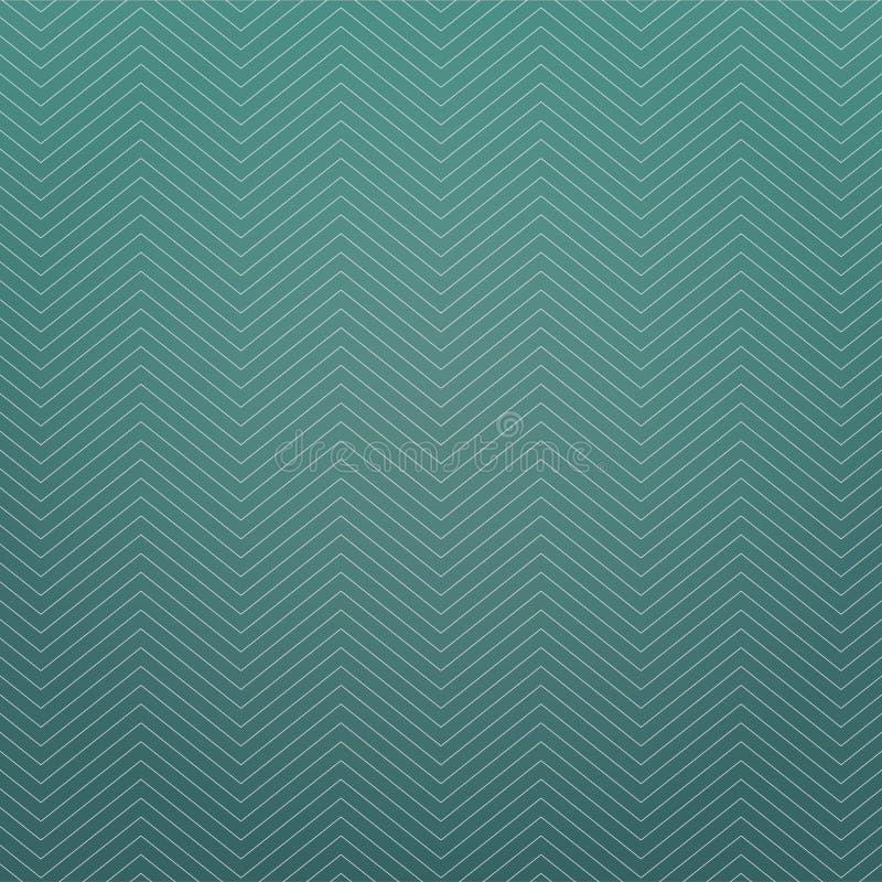 Zigzag geweven groen ontwerp als achtergrond Eenvoudig chevron naadloos patroon r stock illustratie