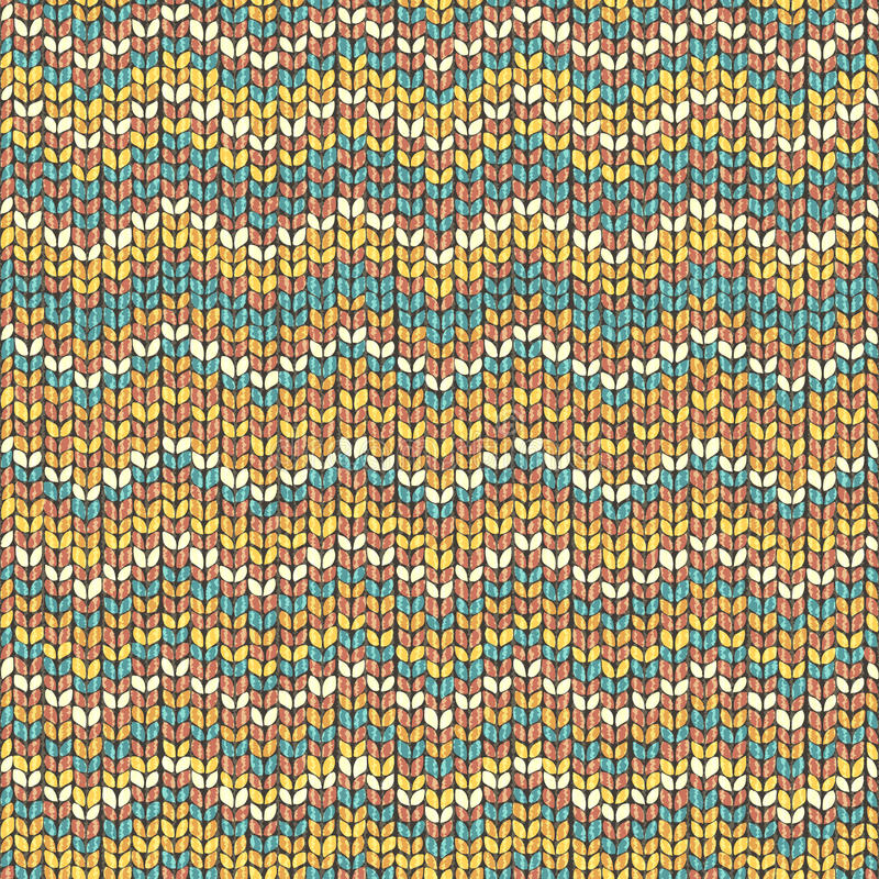 Zigzag knitted seamless pattern vector vector illustration