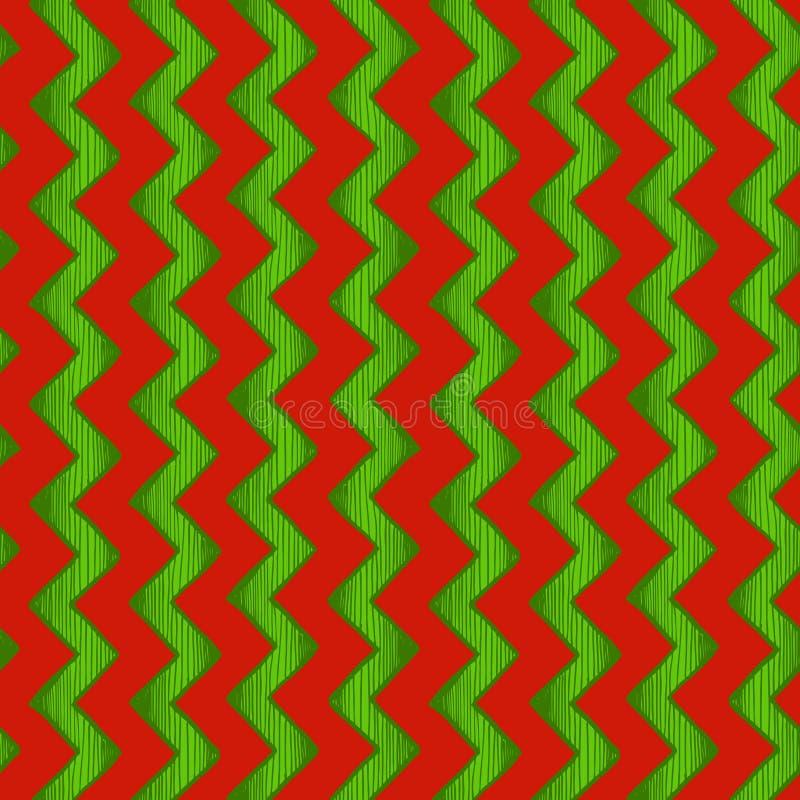 Zigzag parallelle lijnen stock illustratie