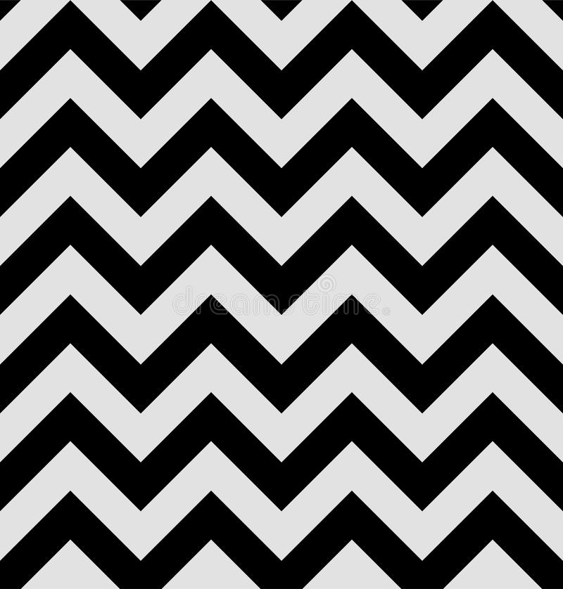 Zigzag pattern is in the twin peaks style. Hypnotic Textile Background wallpapers. Black and white stripes royalty free illustration