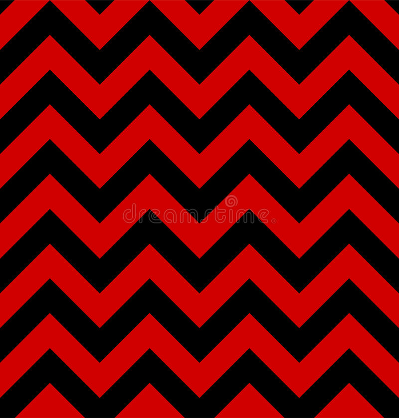 Zigzag pattern is in the twin peaks style. Hypnotic Textile Background wallpapers. Red and black stripes Repeating vector vector illustration