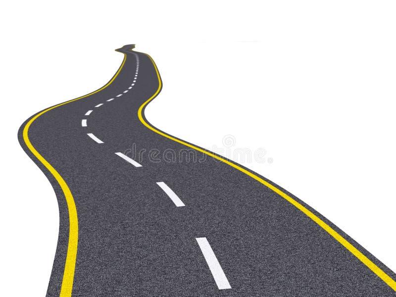 Zigzag road stock illustration