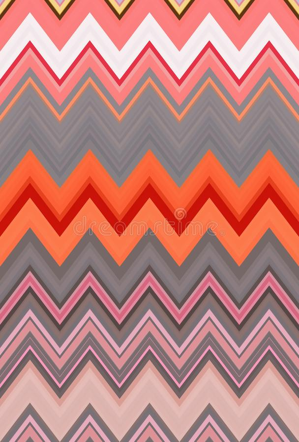 Zigzag rose de chevron de fond de mod?le tendances d'art illustration libre de droits