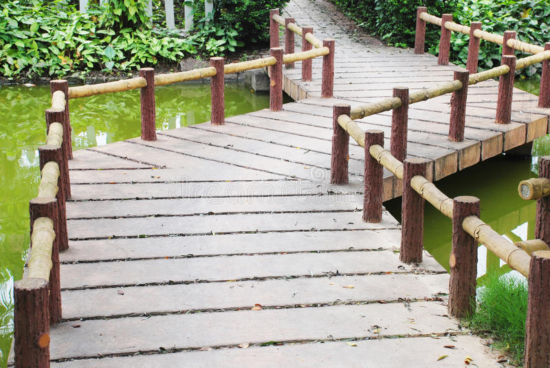 Download Zigzag stone garden bridge stock image. Image of stone - 13504047