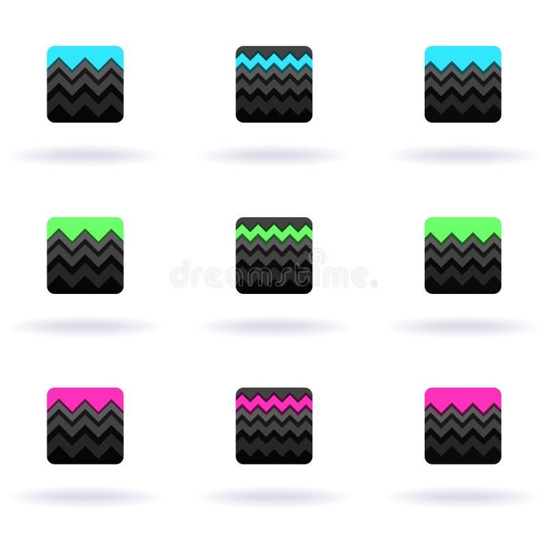 Download Zigzag symbols stock illustration. Image of beautiful - 16416836