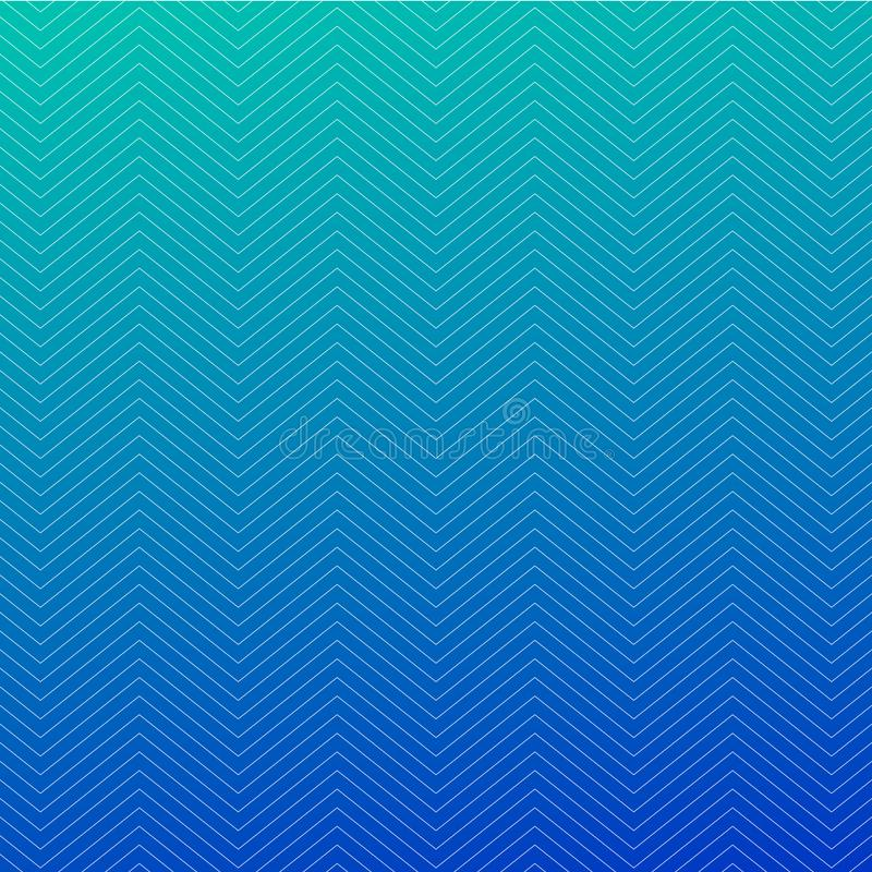 Zigzag textured blue background design. Simple chevron seamless pattern. Template for prints, wrapping paper, fabrics, covers, stock illustration