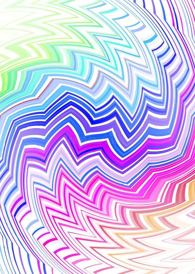 Zigzag tribale sottile illustrazione vettoriale