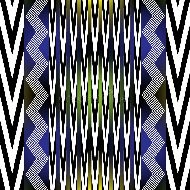 Colorful Aztec Ornament On White Geometric Ethnic