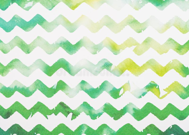 zigzag white and green royalty free stock photos
