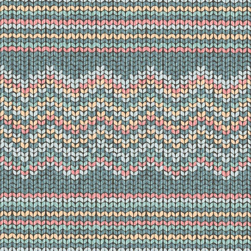 Zigzagt de stof gebreide textuur, naadloos patroon vector illustratie