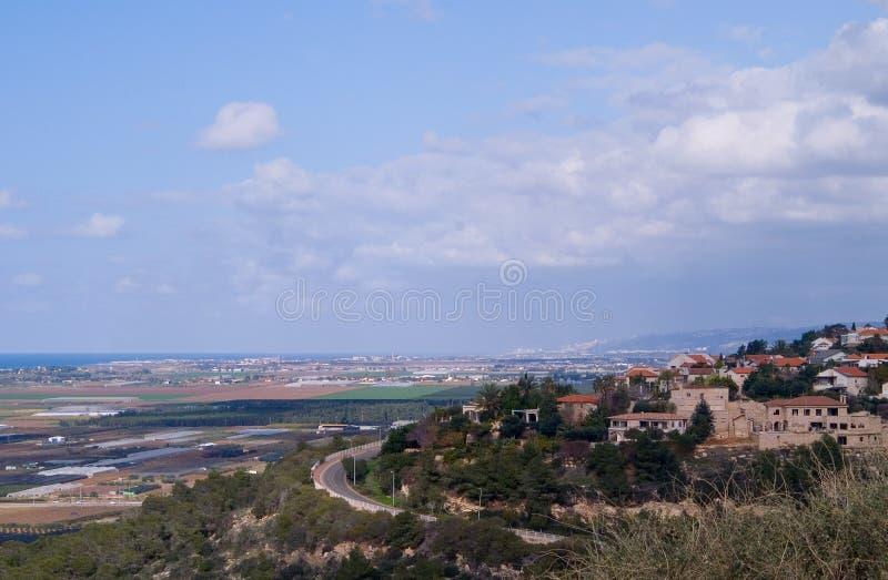 Zihron-Yaakov e la pianura litoranea immagini stock libere da diritti