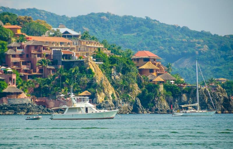 Zihuatanejo jachty zdjęcie royalty free
