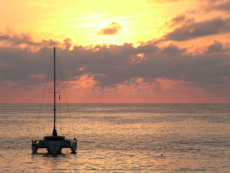 Zihuatanejo Sonnenuntergang stockbilder
