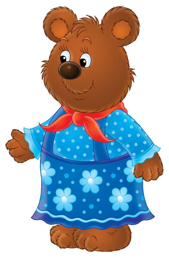 Zij-beer stock illustratie