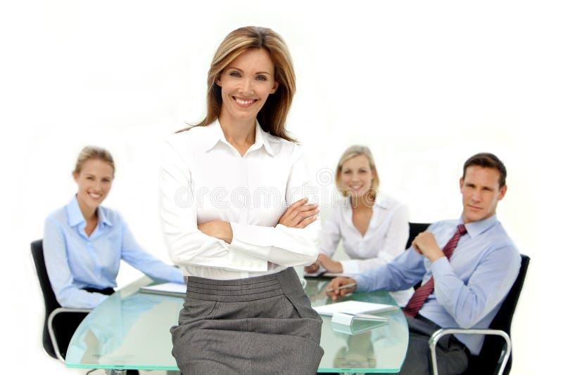 Zij is de Manager stock afbeelding
