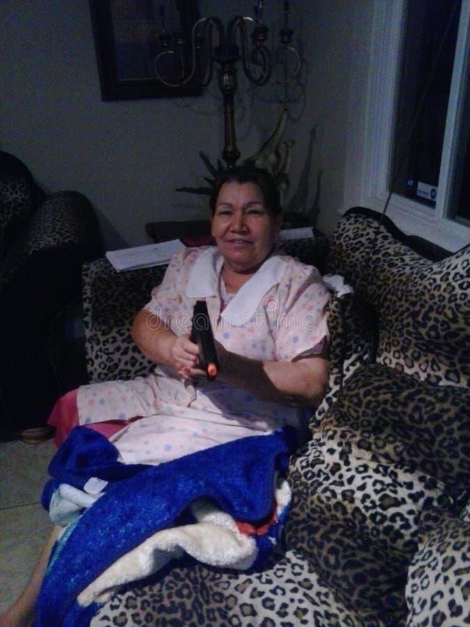 Zij in de Mexicaanse maffia lol stock foto