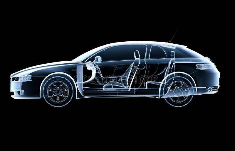 Zij x-ray auto royalty-vrije illustratie