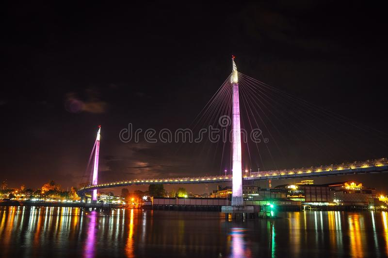 Zijaanzicht van de brug van Gentala Arasy royalty-vrije stock fotografie