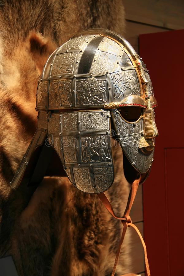 Zijaanzicht van de Helm van Hoo van Sutton het Saksische stock foto's