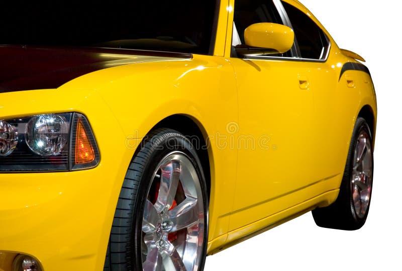 Zijaanzicht van een Auto van de Spier stock afbeelding