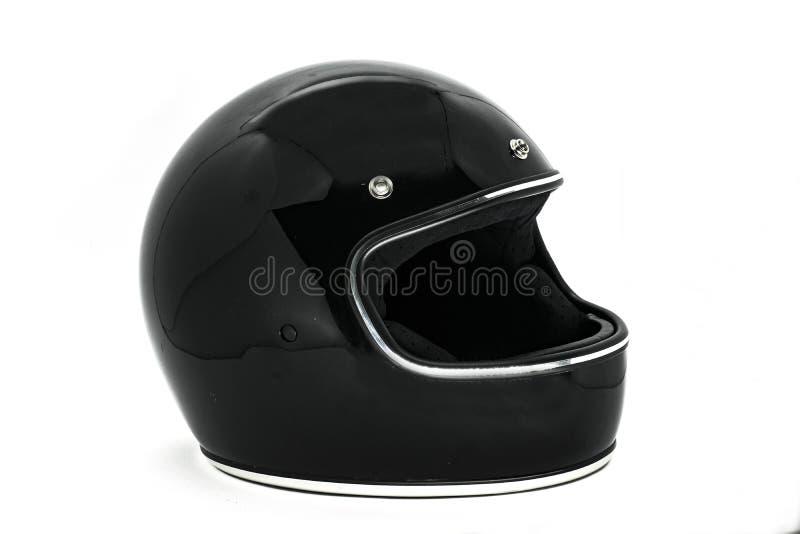 Zijaanzicht van een motorfietshelm stock afbeelding
