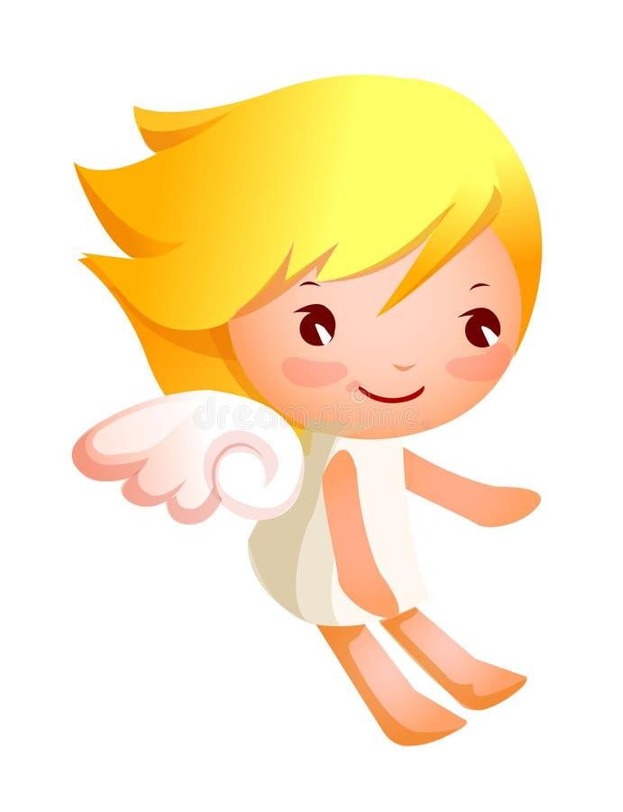 Zijaanzicht van engel het vliegen stock illustratie