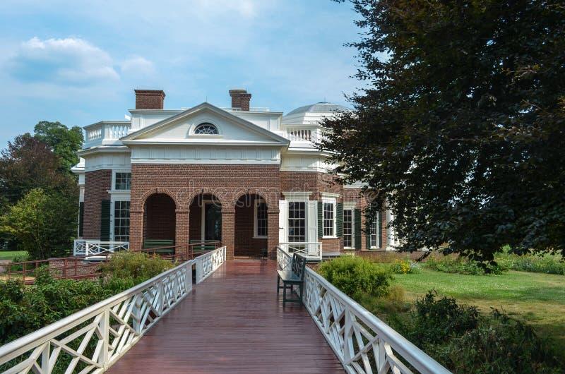 Zijaanzicht van het huis Monticello royalty-vrije stock foto