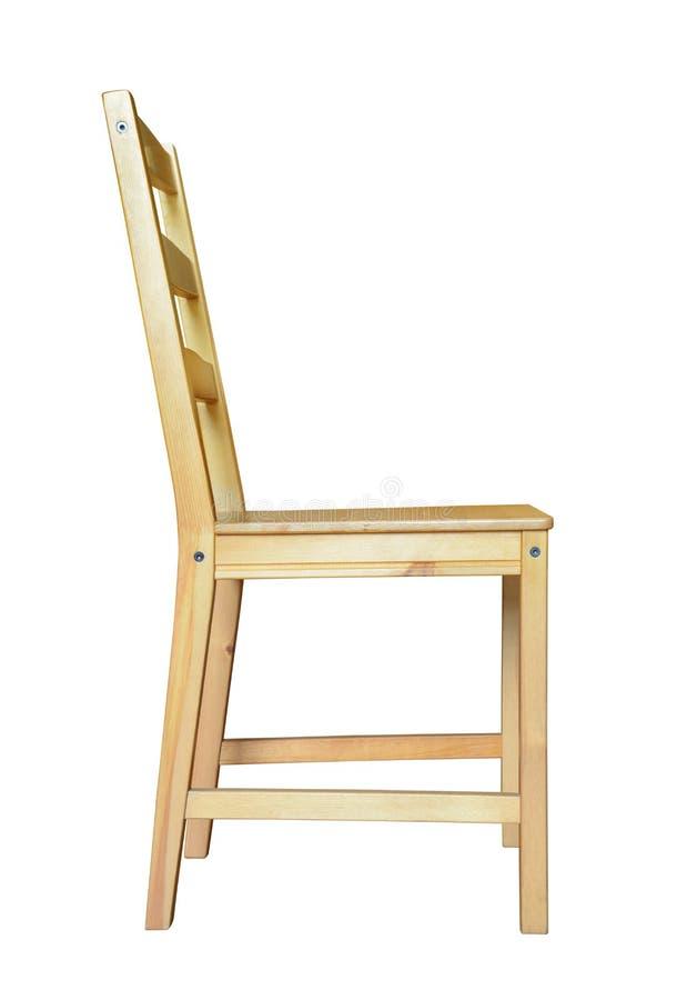 Zijaanzicht van houten stoel royalty-vrije stock foto
