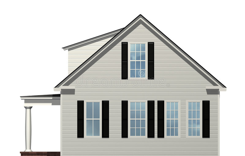 Zijaanzicht van Huis stock illustratie Afbeelding