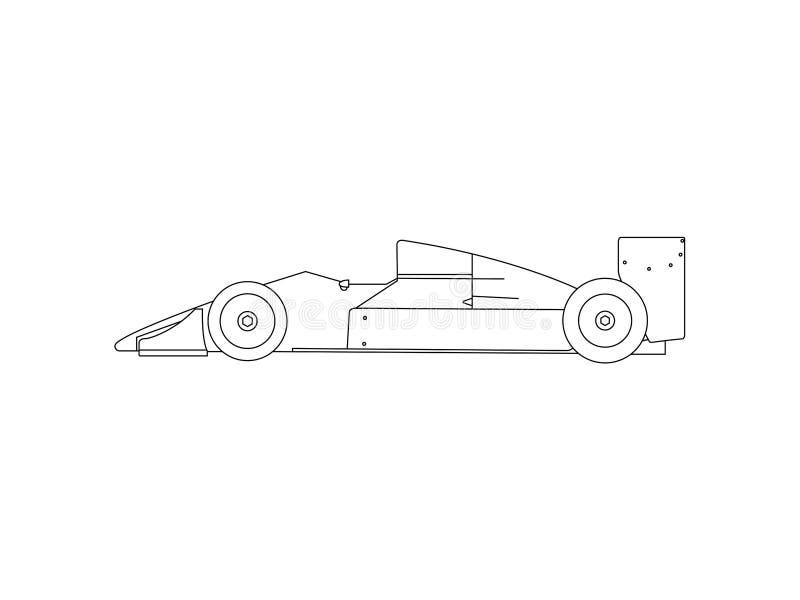 Zijaanzicht van klassieke raceauto royalty-vrije illustratie