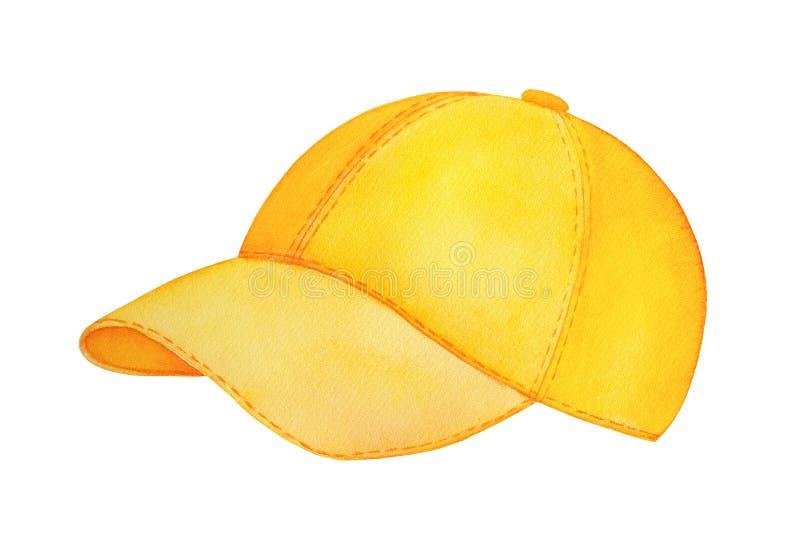Zijaanzicht van leeg klassiek geel honkbal GLB vector illustratie