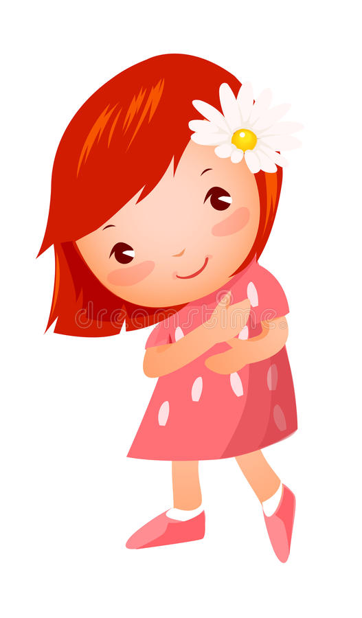 Zijaanzicht van meisje status vector illustratie