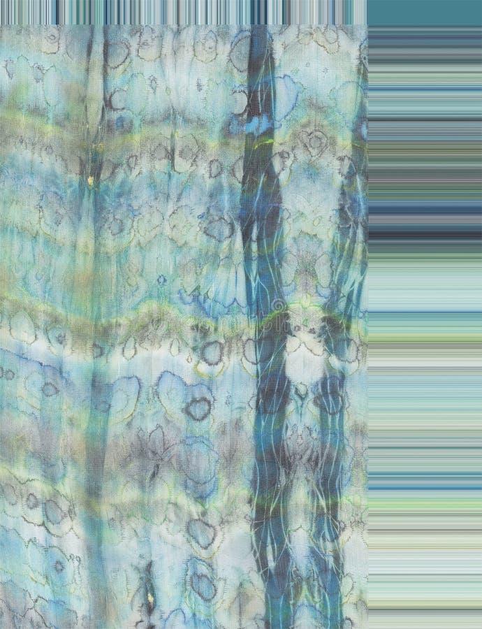 Zijde in blauw stock fotografie