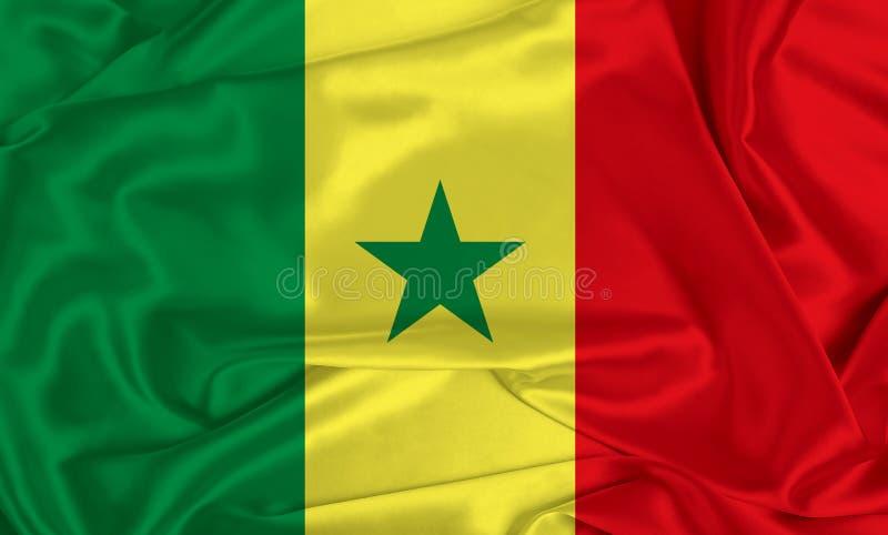 Zijde Senegal Vlag stock foto's