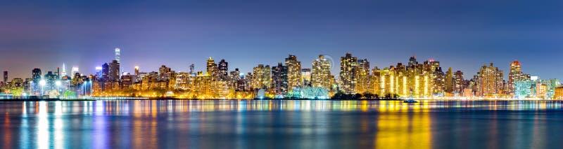 Zijhorizon van het Oosten van Manhattan de Hogere stock afbeelding