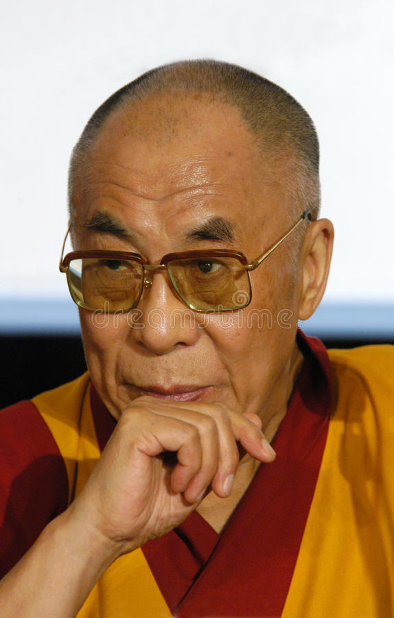 Zijn Heiligheid Dalai Lama stock foto