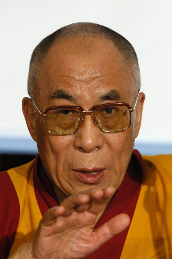 Zijn Heiligheid Dalai Lama stock afbeeldingen