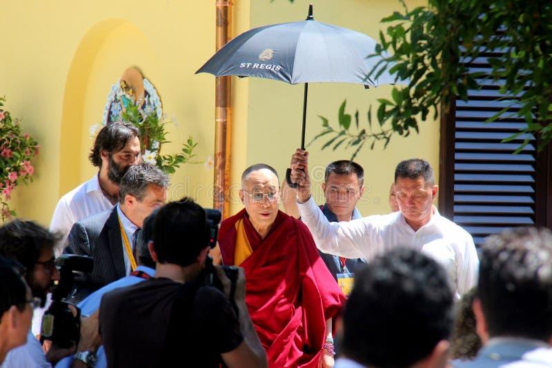 Zijn Heiligheid XIV Dalai Lama Tenzin Gyatso stock foto's